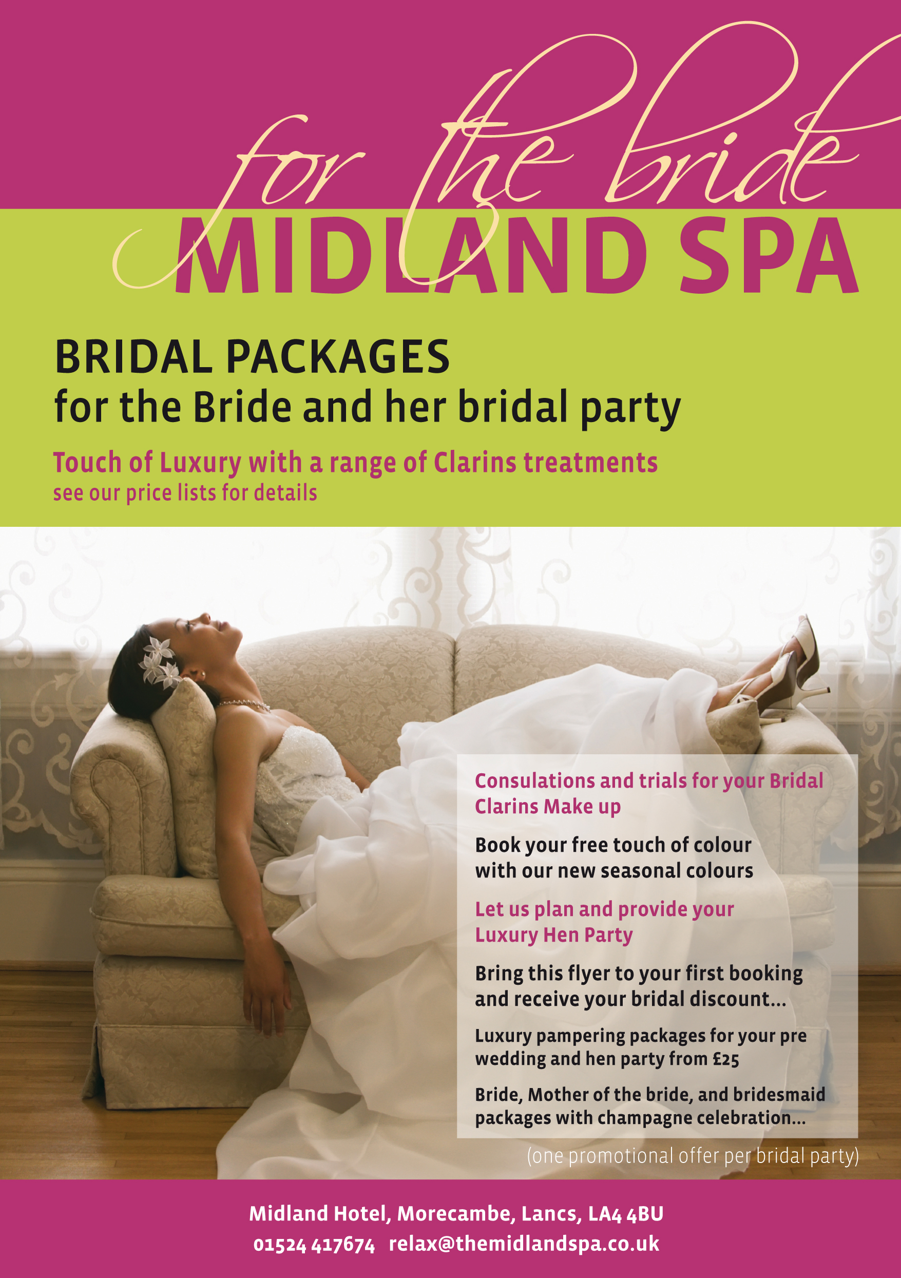 Midland Spa Christmas flyer