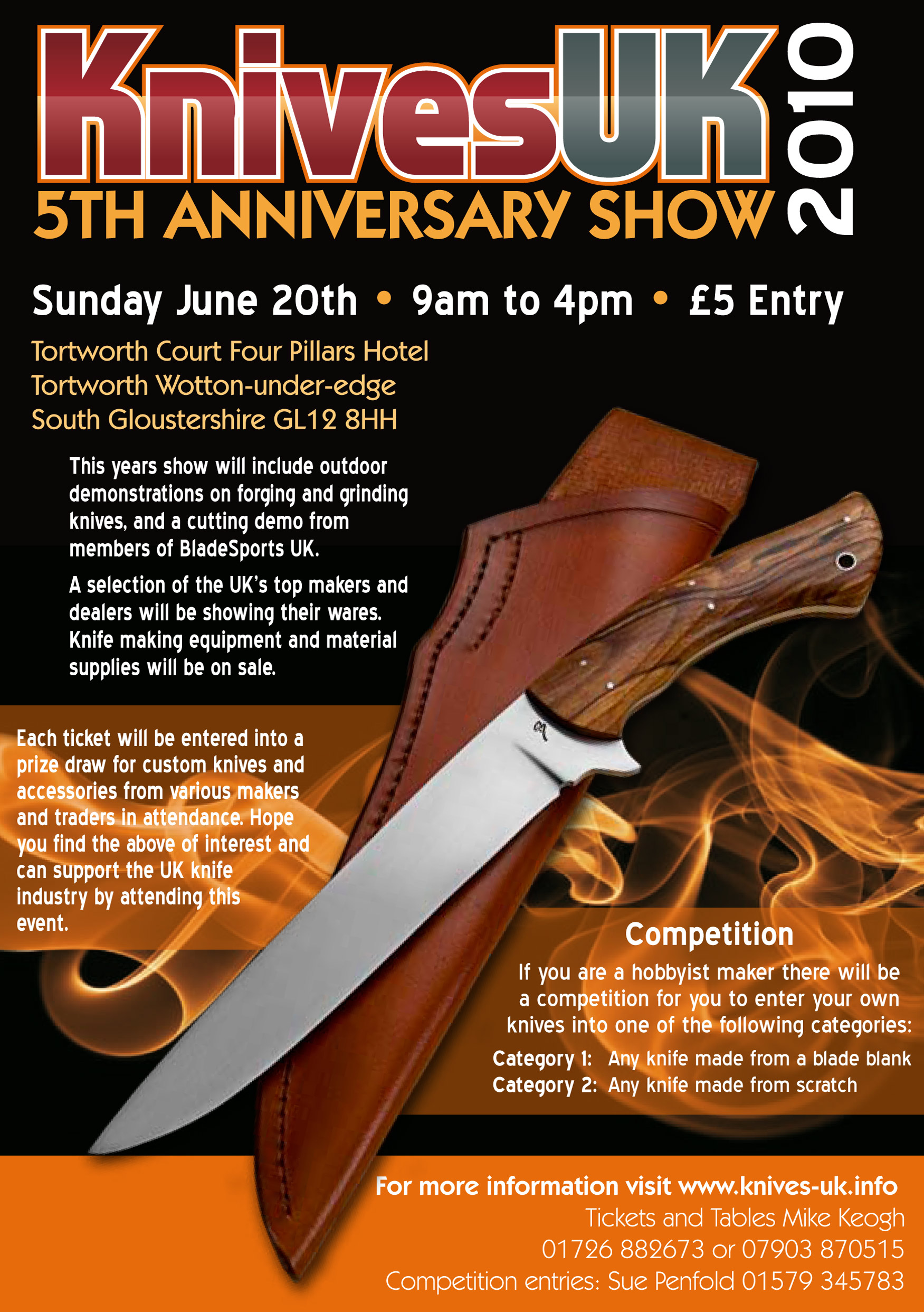 Knife Show flyer A5
